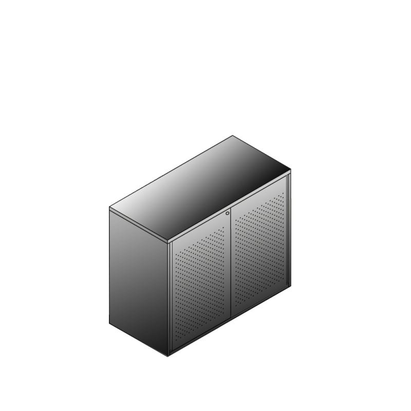 Bisley BG21023ADSBST Schiebetürenschrank 807-831 x 1000 x 470 (HxBxT in mm)