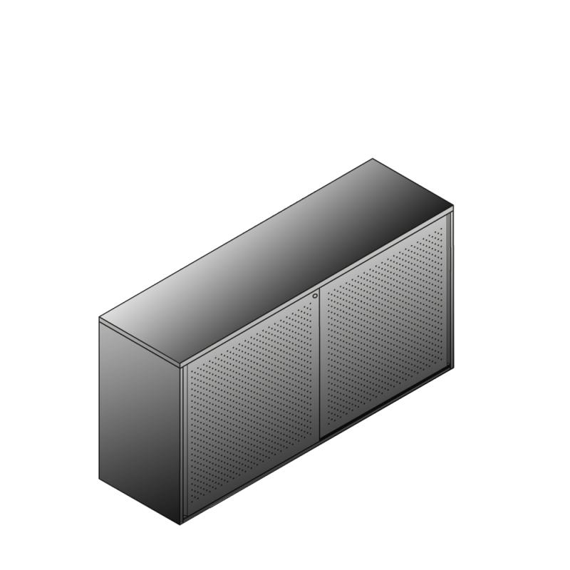 Bisley BG21623ADSBST Schiebetürenschrank 807-831 x 1600 x 470 (HxBxT in mm)