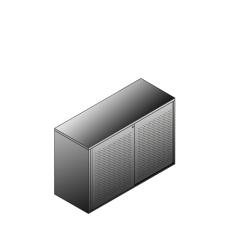 Bisley BG21221PDSBST Schiebetürenschrank 743-751 x 1200 x 470 (HxBxT in mm)