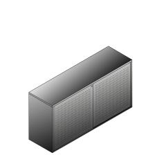Bisley BG21623PDSBST Schiebetürenschrank 807-831 x 1600 x 470 (HxBxT in mm)