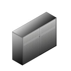Bisley BG21634PDSBST Schiebetürenschrank 1149-1173 x 1600 x 470 (HxBxT in mm)
