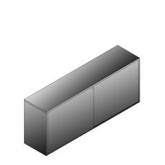 Bisley BG22023SDSBST Schiebetürenschrank 807-831 x 2000 x 470 (HxBxT in mm)