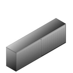 Bisley BG22421PDSBST Schiebetürenschrank 743-751 x 2400 x 470 (HxBxT in mm)