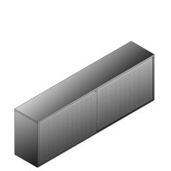 Bisley BG22423ADSBST Schiebetürenschrank 807-831 x 2400 x 470 (HxBxT in mm)
