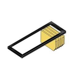 Bisley BIT08LRPS833 Lateralhängerahmen für Rollladenschrank B 800 mm